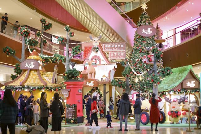 广州太古汇2018圣诞亮灯 驯鹿快速3分赛车美陈空间上线