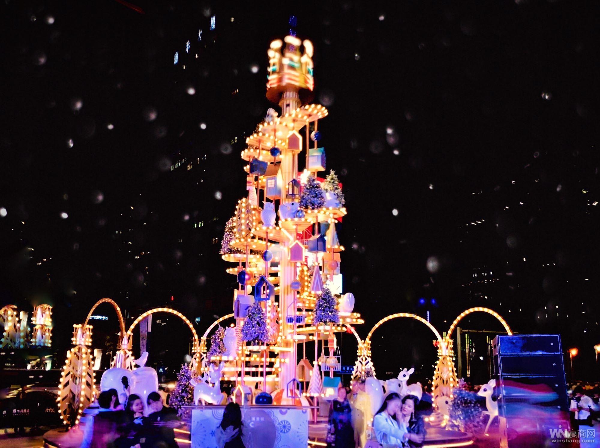 2018年深圳万象城圣诞亮灯