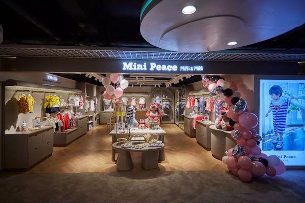 太平鸟Mini Peace旗下幼童系列杭州大厦独立开店