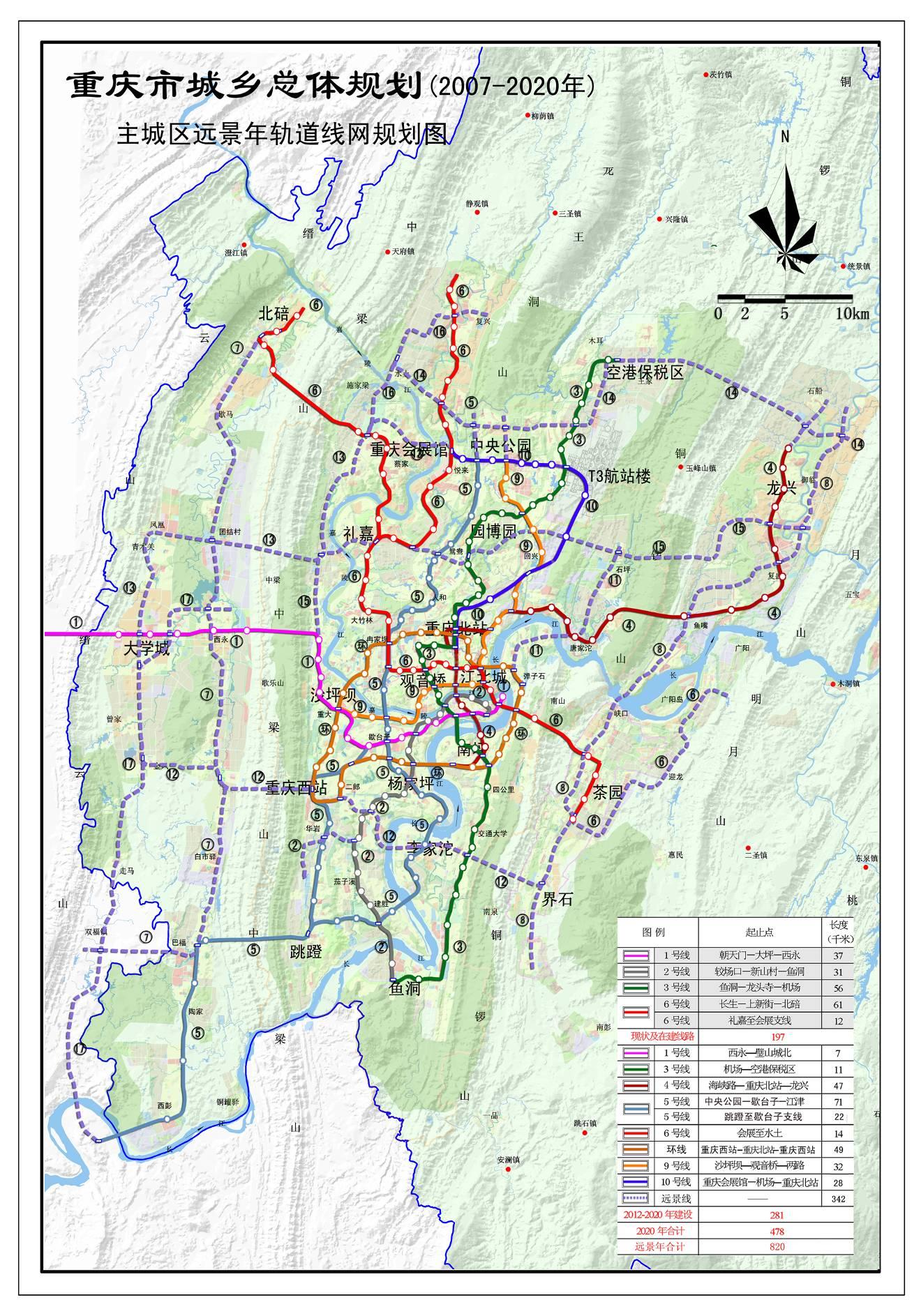 重庆轨道交通整体规划