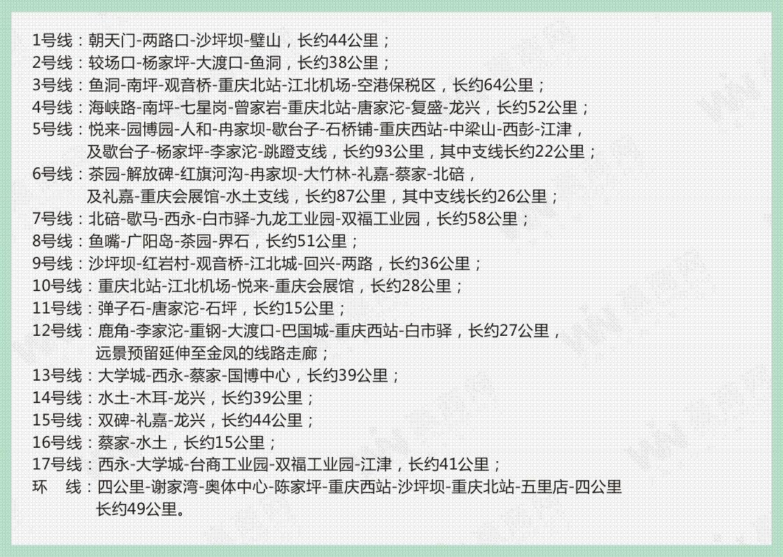 """重庆轨道交通""""十七线一环""""线网布局和规模"""