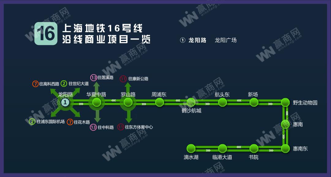 上海地铁16号线沿线商业