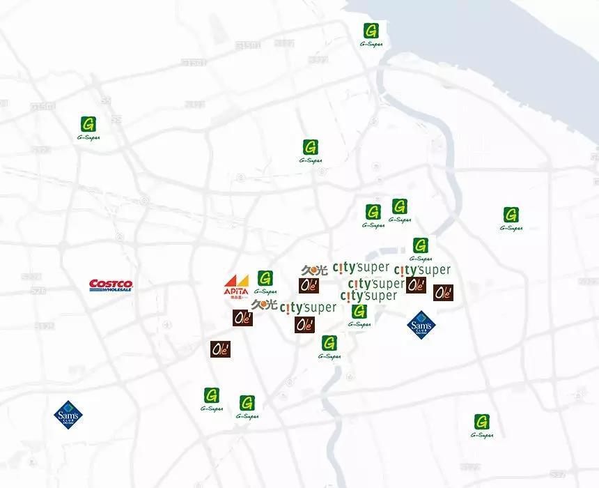 上海高端超市分布
