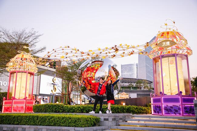 """""""国潮范""""天环,广州首个大型走马灯+AI智能创意挥春登场"""