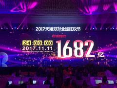 20017年天猫双11总销售额1682亿元 苏宁易购销售额全网第一
