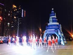 点亮南门商圈圣诞季 中贸广场圣诞点灯仪式璀璨开启