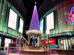 圣诞树还能这样玩?2017年贵阳购物中心的花式美陈……