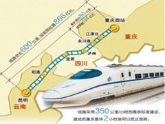 渝昆高铁力争年底前开工 成渝高铁将开进沙坪坝站