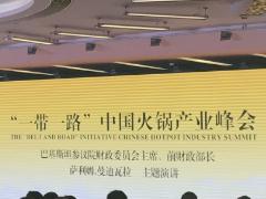"""""""一带一路""""中国火锅产业峰会在重庆国际会展中心隆重召开"""