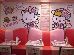伦敦餐厅Tombo与Hello Kitty形象合作开主题快闪店