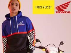 Forever 21 和本田合作推出机车服 目的在于拉动销售