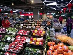 盒马海口国贸店开门迎客 店内提供6000多种精选商品