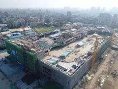 汕头万达广场主体结构封顶 预计2019年5月投入运营