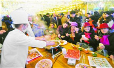 舌尖上的旅游 新疆火锅联盟携手国际大巴扎推介新疆餐饮