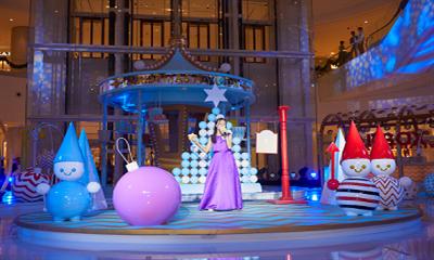 长沙IFS开启圣诞奇幻之旅 两大艺术作品首次点亮星城
