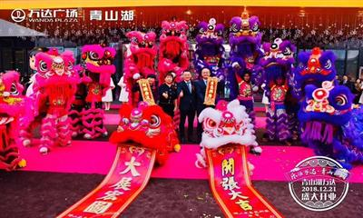 青山湖万达广场携14大主次力店于12月21日正式开业