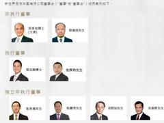 新世界百货中国:颜文英辞任非执行董事 公布8名董事名单