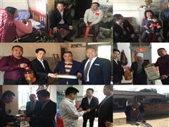 海航日月广场2018年春节迎新困难员工慰问活动