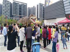 穿越侏罗纪时光 亚运城广场举办恐龙主题展