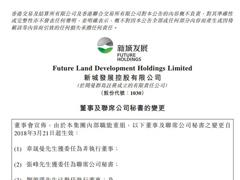 新城发展控股:刘源满辞任执行董事 张峰获任联席公司秘书
