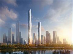 河西金茂G97效果图曝光 将打造580米超高层城市新地标
