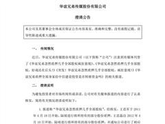 华谊兄弟澄清:王忠军、王忠磊不存在抛售股份套现行为