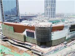 济南华润万象城最迟明年五一开业 外立面已初具规模