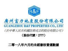 富力地产上半年合约销售金额约569.6亿元 同比增长47%