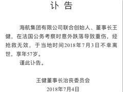 董事长王健意外身亡 海航的新零售布局将走向何方?
