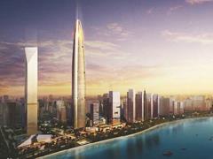 武汉绿地中心确定海拔500米 低于原规划636米