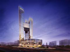 全球最高的三塔连体建筑――南京河西金鹰世界368米主体封顶