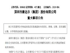 康达尔原董事长被刑拘 京基集团上位4人进入管理层