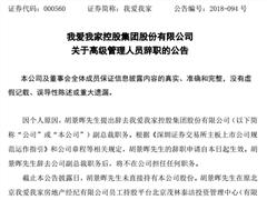 我爱我家正式公告:胡景晖因个人原因辞去副总裁职务