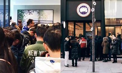 加拿大鹅北京旗舰店低调开业顾客爆棚 市值刚刚蒸发逾百亿