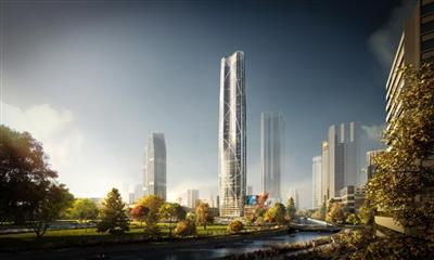 """407米云南第一高楼""""长出地面"""" 俊发春之眼成昆明新地标"""