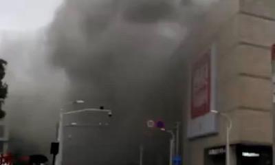 绍兴银泰城突冒大量浓烟,疑似炉鱼餐厅设备故障