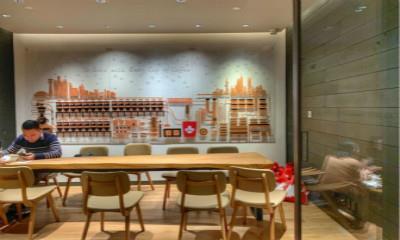 加拿大Tim Hortons中国首店开业 门外排起长龙