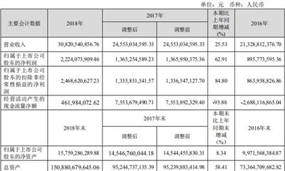 蓝光发展2018年年报:实现营业收入308.21亿元 同比增幅25.53%
