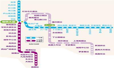 南昌2条地铁线聚集38个商场