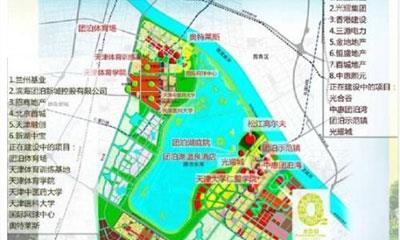 天津团泊新城城市规划:未来将建多个商业综合体