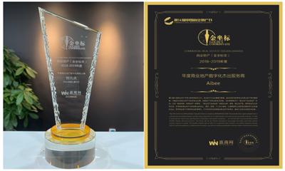 "Aibee斩获中国商业地产""金坐标""两项""数字化""大奖"