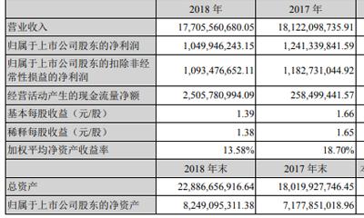 鄂武商A:2018年净利降15%