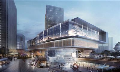 招商蛇口丁家庄项目效果图曝光,51万方城市综合体,将于2022年开业