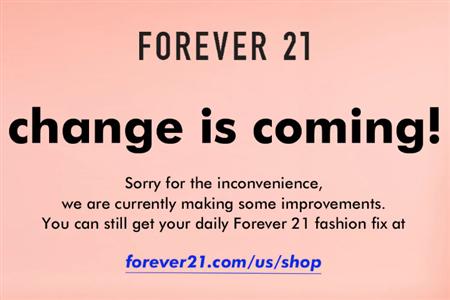 """美国快时尚Forever 21破产重组 已获3.5亿美元""""输血"""""""