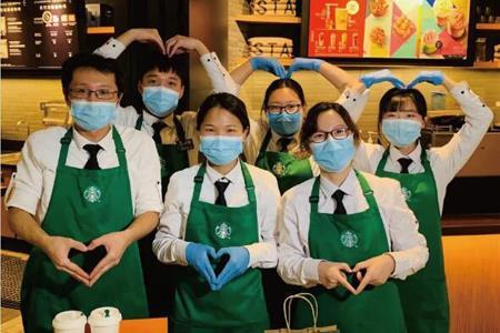 """星巴克武汉5家门店恢复营业 开启无接触式""""专星送服务"""""""