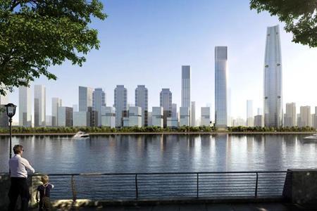 华夏幸福武汉长江中心项目开工 拟打造160万㎡综合体