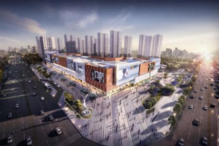 山东首座中骏世界城—高密中骏世界城购物中心正式封顶