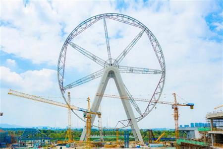 南京华侨城欢乐滨江摩天轮合圆  看看南京还有哪些商业拥有摩天轮