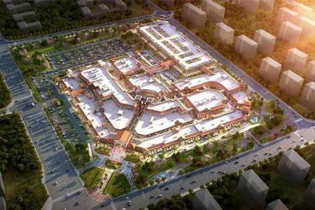 青岛百联奥特莱斯广场正式封顶 预计2022年初开业