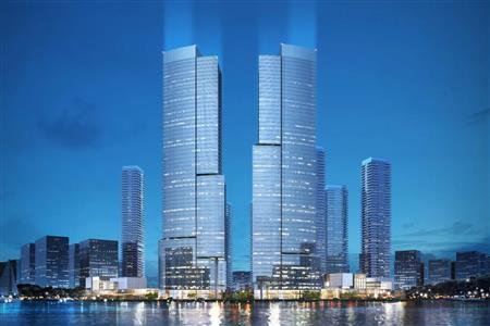 鹏瑞底价夺奇槎三面环江靓地 将打造佛山250米双子塔